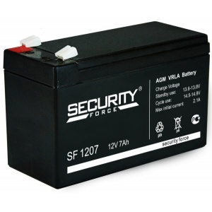 Стационарные (промышленные) аккумуляторы Security Force SF 1207 12V 7Ah 151x65x100мм 2,3кг